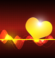 cardiography scanning heart background vector image vector image