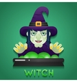 Halloween Party Witch Role Character Bust Icons vector image