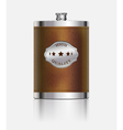Stainless hip flask vector image