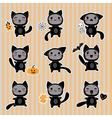 Halloween Cartoon Cat Character vector image vector image