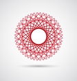 Abstract wireframe geometric elements icon vector image