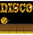 background with golden disco vector image