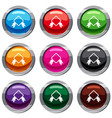 badge with ribbon set 9 collection vector image
