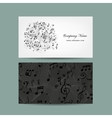 Business card with music design vector image