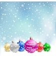 christmas bauble snow vector image