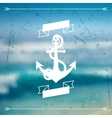Design postcard with marine label and symbol vector image