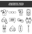 Sexual vio icons set vector image