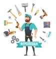 Repair Elements Round Template vector image