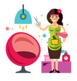 beauty salon concept hairdresser flat vector image