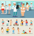 fat people losing weight collection vector image