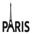 Paris - Eiffel Tower retro card vector image
