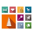 Set of colorful flat baby icons vector image