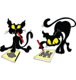 cats and chess vector image vector image