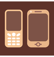 mobile phones brown vector image