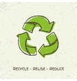 Sketch doodle recycle reuse symbol isolated vector image vector image