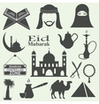 Arabic icons set vector image