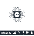 Chip icon flat vector image
