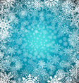 Christmas snowflakes background Blue background vector image