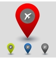 Colorful navigation sign with plane vector image