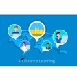 Distance learning vector image