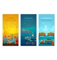 Petroleum Industry Vertical Banners Set vector image