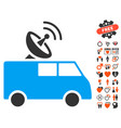 radio control car icon with lovely bonus vector image