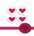 Valentine card Paper Cut Style vector image