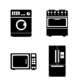 Kitchen icons set Flat design vector image