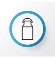 milk can icon symbol premium quality isolated jug vector image