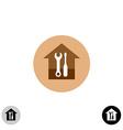 House service logo vector image