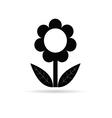 flower black with leaf vector image