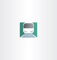 train transportation icon vector image