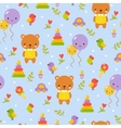 Cute baby pattern design in vector image