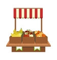 Fruit Stand On The Market vector image