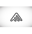Alphabet letter A line logo icon design vector image