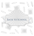 Back to School curved Badge vector image