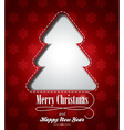 Christmas with abstract tree design vector image