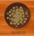 Coriander seeds flat design icon vector image