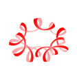 frame of red serpentine with curls vector image