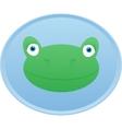 Frog head Button badge vector image