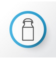 milk can icon symbol premium quality isolated jug vector image