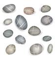 pebbles stone isolated set sea coast nature sign vector image