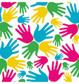 Social diversity hands seamless pattern vector image