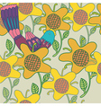 sunflowers background pattern vector image