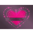 valentines day glowing hearts vector image
