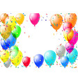 abstract colorful confetti and balloons background vector image
