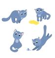 Set of happy cats 2 vector image vector image