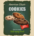 retro fast food cookies poster vector image