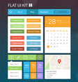 Flat User Interface Kit for web and mobile 1 vector image vector image