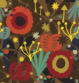 Fantasy autumn seamless pattern vector image